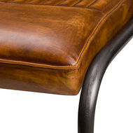 Image 4 - Billy Leather Ribbed Dining Chair