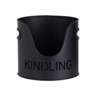 Image 5 - Black Finish Logs And Kindling Buckets & Matchstick Holder