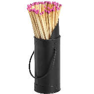 Image 2 - Black Matchstick Holder with 60 Matches