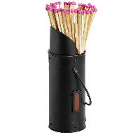 Image 1 - Black Matchstick Holder with 60 Matches