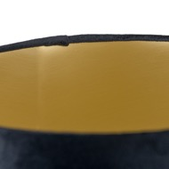 Image 2 - Black Velvet Lamp And Ceiling Shade With Gold Lining