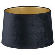 Image 1 - Black Velvet Lamp And Ceiling Shade With Gold Lining