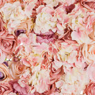 Image 2 - Blush Pink Artificial Flower Wall