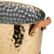 Image 2 - Brass Large Leather Handled Champagne Cooler