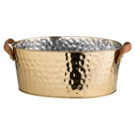Image 1 - Brass Large Leather Handled Champagne Cooler