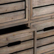 Image 2 - Brooklyn Distressed Pine Six Drawer Chest