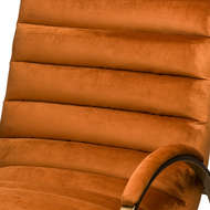 Image 2 - Burnt Orange And Brass Ribbed Ark Chair
