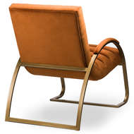 Image 4 - Burnt Orange And Brass Ribbed Ark Chair