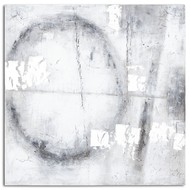 Image 1 - Capri Silver And Grey Hand Painted Canvas