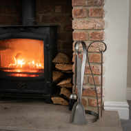 Image 1 - Contemporary Fire Companion Set In Antique Pewter