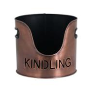Image 3 - Copper Finish Logs And Kindling Buckets & Matchstick Holder