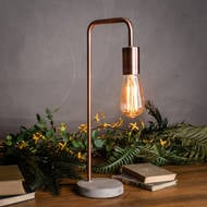 Image 4 - Copper Industrial Lamp With Stone Base