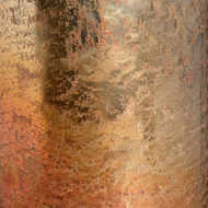 Image 3 - Copper Ombre Metallic Glass Large Candle Holder
