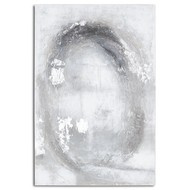 Image 1 - Cortina Silver And Grey Hand Painted Canvas
