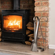 Image 4 - Curved Fireside Companion Set In Antique Pewter With Ring Detail