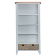 Image 2 - Easby Collection Grey Large Bookcase