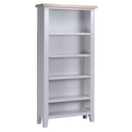 Image 3 - Easby Collection Grey Large Bookcase