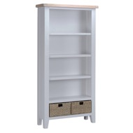 Image 1 - Easby Collection Grey Large Bookcase