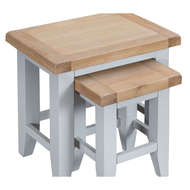 Image 3 - Easby Collection Grey Nest of 2 Tables
