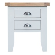 Image 2 - Easby Collection White Lamp Table