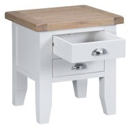 Image 3 - Easby Collection White Lamp Table
