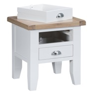 Image 4 - Easby Collection White Lamp Table