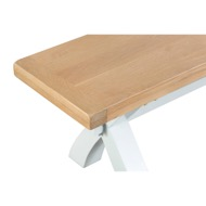 Image 3 - Easby Collection White Small Cross Bench