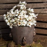 Image 7 - Flower Pot With Mice Detail