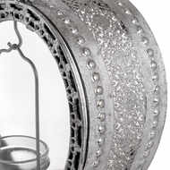 Image 2 - Free Standing Heart Tealight Lantern in Antique Silver