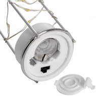 Image 4 - Frosted Grey Glass Lantern with Rope Detail and LED