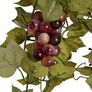 Fruit Grape Garland Red 180Cm