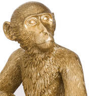 Image 2 - George The Monkey Gold Table Lamp