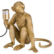 Image 1 - George The Monkey Gold Table Lamp
