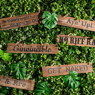 Image 3 - Ginvincible Rustic Wooden Message Plaque