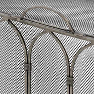 Image 3 - Gothic Antique Pewter Firescreen