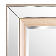 Image 2 - Grand Pilton Mirror With Brass Inlay