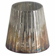 Grey And Bronze Ombre Conical Candle Holder