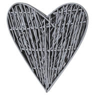 Image 3 - Grey Small Willow Branch Heart
