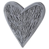 Image 1 - Grey Small Willow Branch Heart
