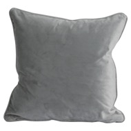 Grey Velvet Cushion 45X45Cm