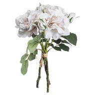 Image 2 - Grey White Short Stem Rose Bouquet