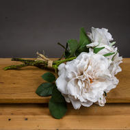 Image 1 - Grey White Short Stem Rose Bouquet
