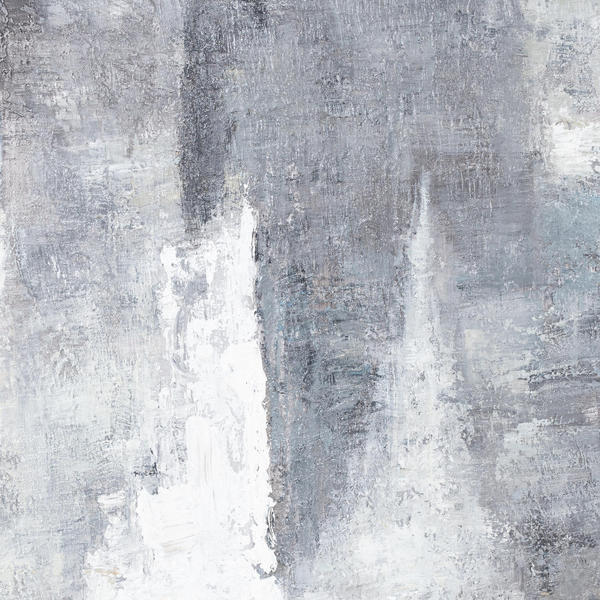 Image 2 - Hand Painted Black And White Layered Abstract Painting