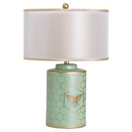 Image 1 - Harley Bee Table Lamp With Double Layer Shade