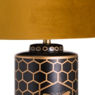 Image 2 - Harlow Bee Table Lamp With Mustard Shade