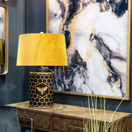 Image 4 - Harlow Bee Table Lamp With Mustard Shade