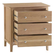 Image 2 - Harlow Collection 3 Drawer Chest of Drawers