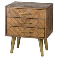 Image 1 - Havana Gold 3 Drawer Bedside Table