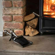 Image 1 - Hearth Tidy Set in Antique Pewter Effect Finish