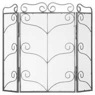 Image 1 - Heavy Large Antique Silver Fire Screen